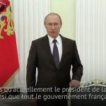 Quand Vladimir Poutine adressait ses condoléances à Hollande et au peuple Français