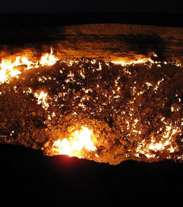 Environnement aller la porte de l enfer final s cape - Turkmenistan porte de l enfer ...